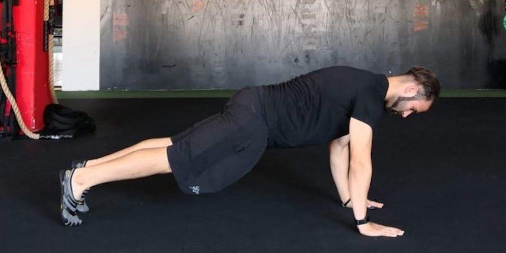 Esercizio fisico palestra plank